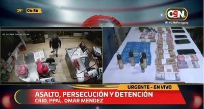 Persecución, tiroteo y un detenido tras cuatro asaltos