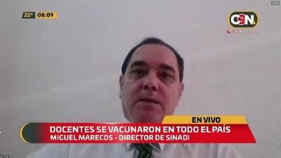 Exitosa vacunación anticovid a docentes a nivel país