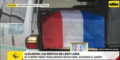 Llegan los restos de Leidy Luna Villalba