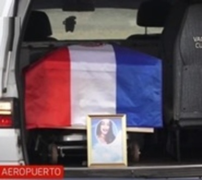 Restos de Leidy Luna llegan a Paraguay