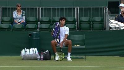 Tenista paraguayo Daniel Vallejo cerró una excelente presentación en Wimbledon