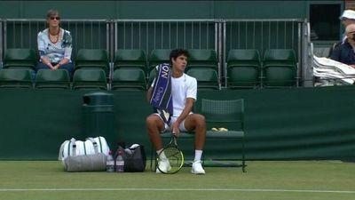 El tenista paraguayo Daniel Vallejo cerró una excelente presentación en Wimbledon
