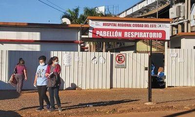 Pabellón Respiratorio de CDE registra disminución de internados