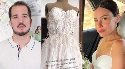 """$3.070 por vestido """"soñado"""", con manchas y 'sin ballenas'; denuncian estafa de diseñador paraguayo"""