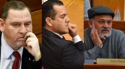 Senadores rechazan pérdida de investidura de Friedmann, Zacarías y Pereira