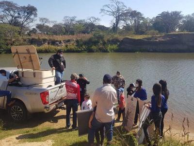 Logran siembra de 3000 especies de pacú en el Río Tebicuary – Prensa 5