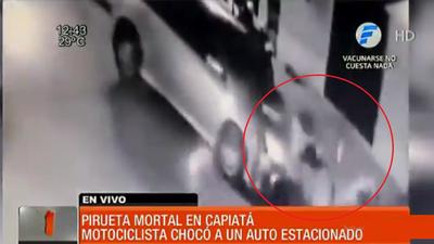 Motociclista muere tras realizar peligrosa pirueta en Capiatá