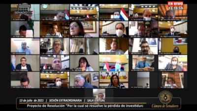 Senado blinda a Zacarías Irún, Friedmann y Pereira