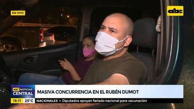 Masiva concurrencia en el Rubén Dumot