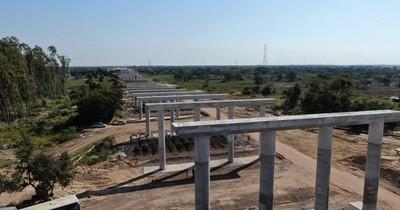 La Nación / Estructura de acceso para puente Héroes del Chaco avanza aceleradamente