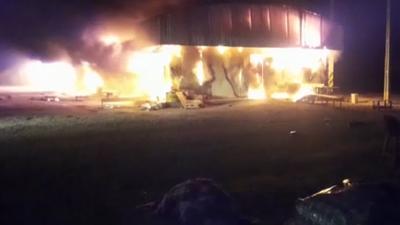 Trágico incendio en campamento del Corredor Vial Bioceánico