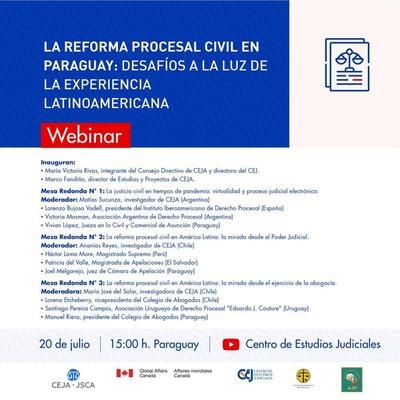Webinar sobre la reforma procesal civil en Paraguay