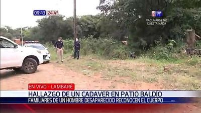 Encuentran un cuerpo sin vida en un terreno baldío en Lambaré
