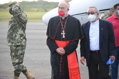 Cardenal Cristobal López llevó su solidaridad a la familia Denis