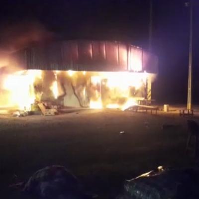 Corredor bioceánico: incendio en campamento de obras con resultado fatal