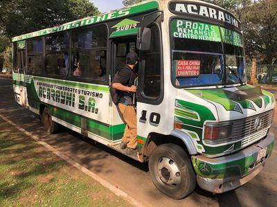 Paro total de transporte público en Alto Paraná