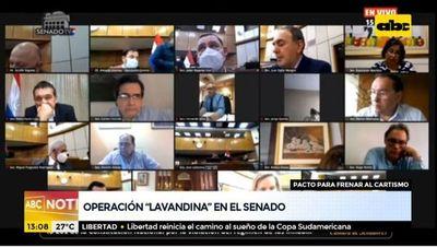 Operación lavandina en el Senado para frenar al cartismo