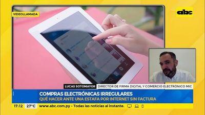 Compras electrónicas irregulares