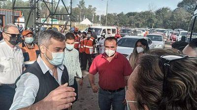 Marito visitó  el megavacunatorio y pidió avanzar  con plan de vacunación masiva