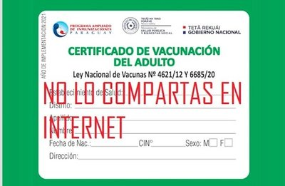 "Crónica / ""CHORROVAC"" A FULL. Roban datos de tu tarjeta de vacunación"