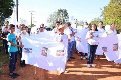 Pobladores piden justicia para Jorge Ríos y libertad para secuestrados