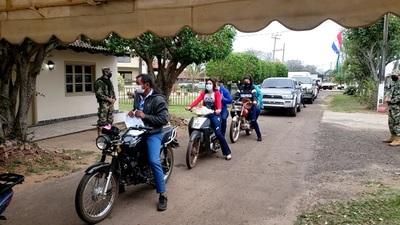 Exitosa vacunación con la modalidad moto y autovac en Concepción