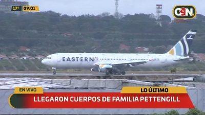 Arriban restos de la Familia Pettengill López Moreira