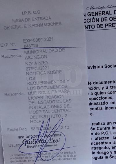 """Notifican al IPS Central, """"pareciera que todavía no aprendimos del Ycuá Bolaños"""""""