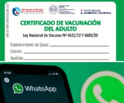 Roban cuentas de WhatsApp mediante fotos de tarjetas de vacunación