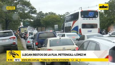Llegaron los restos de la familia Pettengil-López Moreira
