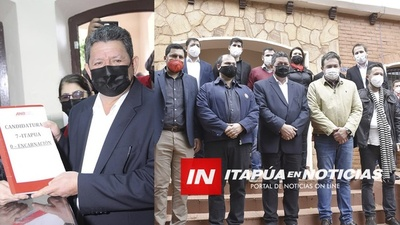INSCRIPCIÓN DE CANDIDATURA A INTENDENTE DE ENCARNACIÓN DE CÉSAR ROJAS.