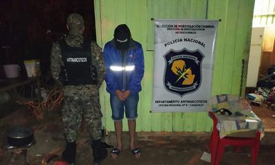 En operativo policial detienen a supuesto microtraficante en Coronel Oviedo
