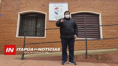 INSCRIBIÓ SU CANDIDATURA A INTENDENTE DE ALTO VERA ARIEL AVALOS.