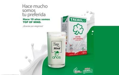 ¿Pensás en lácteos? Pensás en Trebol. Top Of Mind por décimo año consecutivo