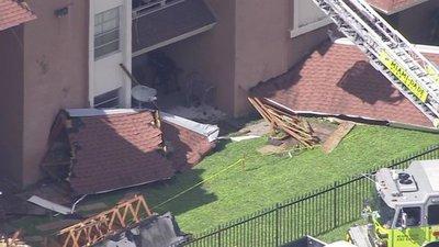 Miami: colapsa parte del techo de un edificio y las autoridades evacuan a sus ocupantes