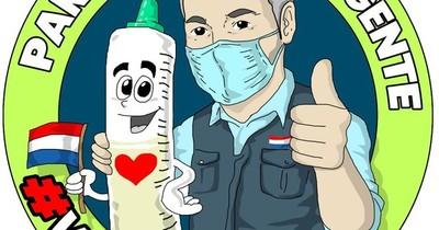 La Nación / Lanzan caricatura de Abdo Benítez para motivar a la vacunación y genera críticas