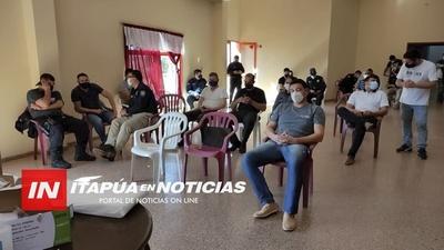 OFICIALMENTE FIGURAN MUY POCOS POLICÍAS VACUNADOS CONTRA EL COVID 19 EN ITAPÚA.