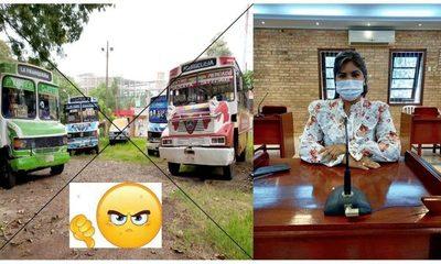 María Portillo rechaza suba de pasaje y dice que transportistas no están en condiciones de pedir absolutamente nada