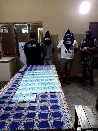 Detienen a dos brasileños e incautan cerca de 7.000 mil reales falsificados