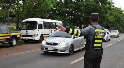 Patrulla caminera multará desde hoy las habilitaciones vencidas de vehículos