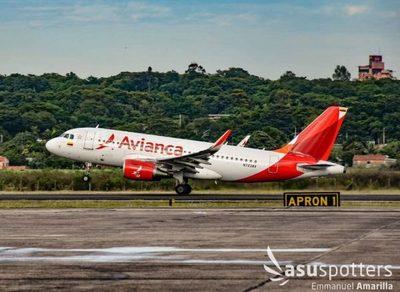 Avianca adelanta retorno a Paraguay