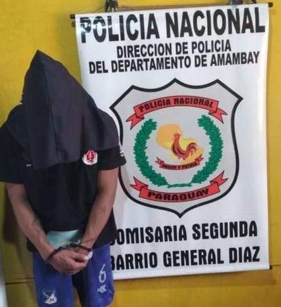 Detienen a presunto asaltante serial en el barrio San Blas