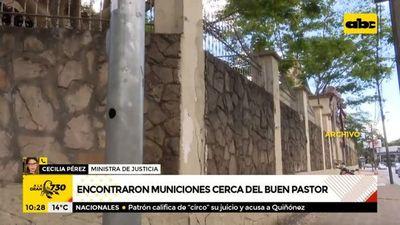 Encontraron municiones en cercanías del penal de Buen Pastor
