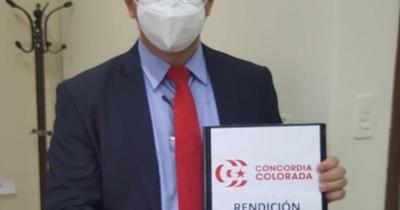 La Nación / Concordia Colorada presentó su rendición de cuentas de las internas