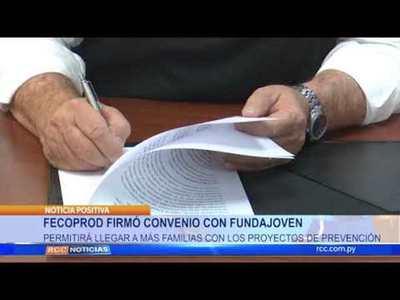 FECOPROD FIRMÓ CONVENIO CON FUNFAJOVEN