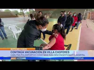 Continuan las Vacunas en Villa Choferes