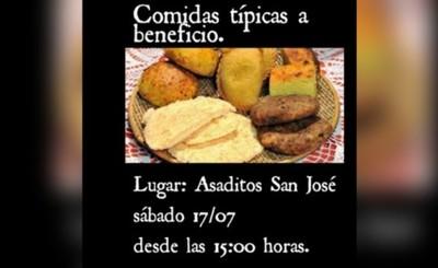 Organizan venta de comidas típicas benéfica en Asadito San José