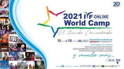 IYF World Camp Online Campamento Mundial 2021 ¡El mundo conectado!