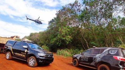 En gran operativo destruyen 15 puertos clandestinos del lago Itaipú