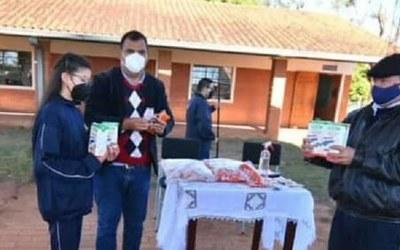 Distribuyen la Merienda Escolar en San Juan Nepomuceno